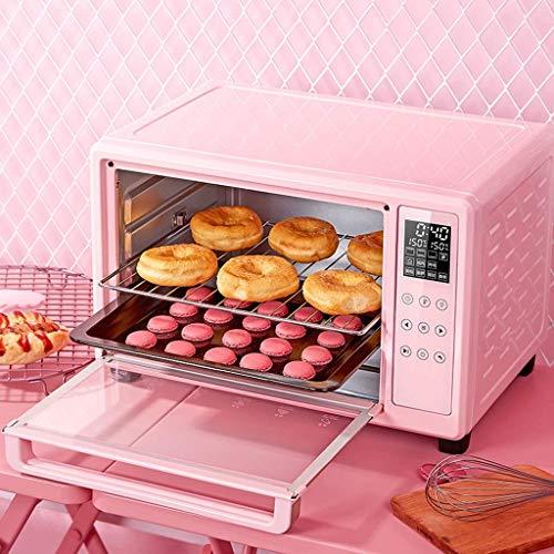 30L Mini-Toaster, 3-Decker-Backöfen mit Krümelschale, Bratpfanne und Deckel, Rotisserie-Ofen, Easy Bake-Ofen für Kinder, Edelstahl, Pink