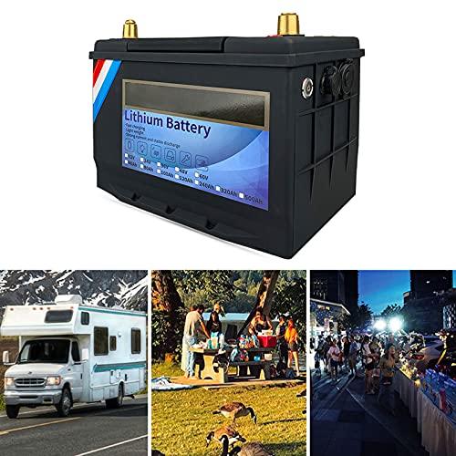 Batería de Fosfato de Hierro Y Litio Lifepo4 Recargable de 12V40 Ah, Batería de Litio de Ciclos Profundos de 3000 Veces, Baja Autodescarga Y Peso Ligero, para Automóvil, Barco, RV,12V100Ah