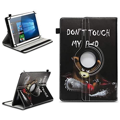 NAmobile Tablet Hülle kompatibel für TrekStor Surftab Breeze 10.1 Quad Tasche Schutzhülle Cover Drehbar Universal Hülle, Farben:Motiv 9