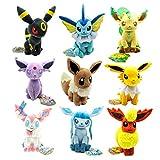 yunding 9 Piezas Pokemon Eevee Familia Vaporeon Jolteon Flareon Espeon...