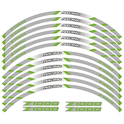 Pegatinas Calcomanía Reflectante Adhesiva para Decoración De Llanta De Rueda De Carreras De Motocicleta para K-awasaki Z1000 Z 1000 (Color : 14)