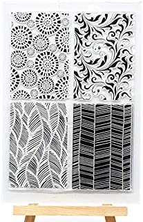 Welcome to Joyful Home 1pc Abstract Background Clear Stamp for Card Making Decoration and Scrapbooking