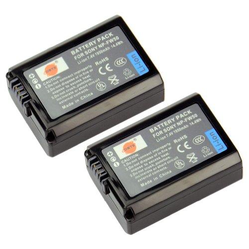 DSTE® 2x NP-FW50 Wiederaufladbare Li-Ionen Batterie Akku für Sony Alpha 7 A7 7R A7R 7S A7S A3000 A5000 A6000 Cyber-shot DSC-RX10 NEX-3 NEX-3N NEX-5 NEX-5N NEX-5R NEX-5T NEX-6 NEX-7 NEX-C3 NEX-F3 SLT-A33 SLT-A35 SLT-A37 SLT-A55V Kamera