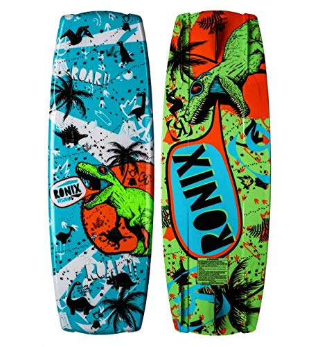 RONIX 2020 Boy's Vision with Glow 'N Dark Treasure Map Boat Board - Dinosaur/Blue