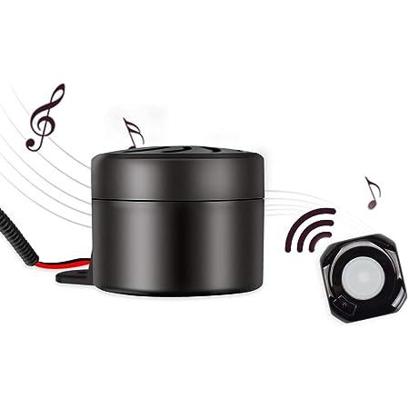 Aumume Car Horn Autohupe Für Motorrad Auto Fahrzeug Lkw Moped 12v Universal Horn Hupe Ist Wireless Fähig Und Hat 10 Verschiedene Alarmtöne Wasserdicht Auto