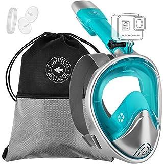ماسک اسنورکل کامل صورت برای زنان و مردان با نمای پانورامیک و طراحی صورت منحنی ، مشاهده درجه 180 درجه ضد نشت ضد مه بدون دنده ماسک دنده ماسک ، تکنولوژی نفوذ آسان تنفس بالا