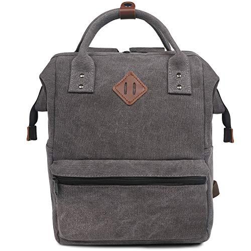 Oflamn City Rucksack Klein Damen Herren Vintage Daypack Laptop Tasche 14 Zoll 14liters (grau)