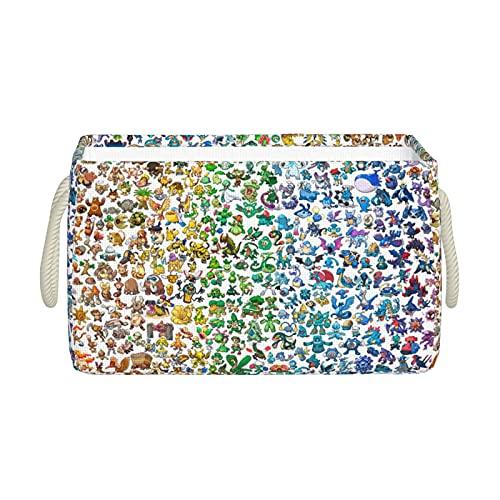 Pokémon 1 Panier de rangement pliable, design simple, étanche et durable, sac de pique-nique, cadeau d'anime mignon