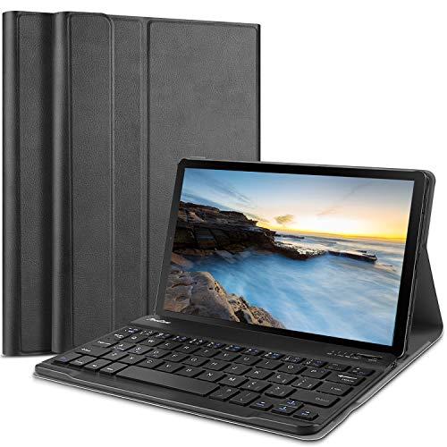 ProCase Funda con Teclado Americano Galaxy Tab A 8.0 2019 SM-T290 T295, Carcasa Delgada con Teclado Inglés Inalámbrico Desmontable Magnético para Galaxy Tab A 8.0 Pulgadas 2019 -Negro
