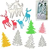 Kungfu Mall - Troqueles de corte para árbol de Navidad, diseño de ciervo