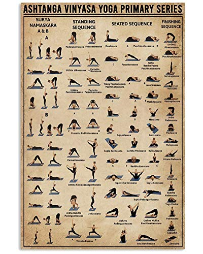 AZSTEEL Ashtanga Vinyasa Yoga Primary Series - Póster vertical