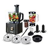 TopStrong Robot de cocina multifunción, 1100 W, 11 funciones, procesador Food Chopper, cuenco de...