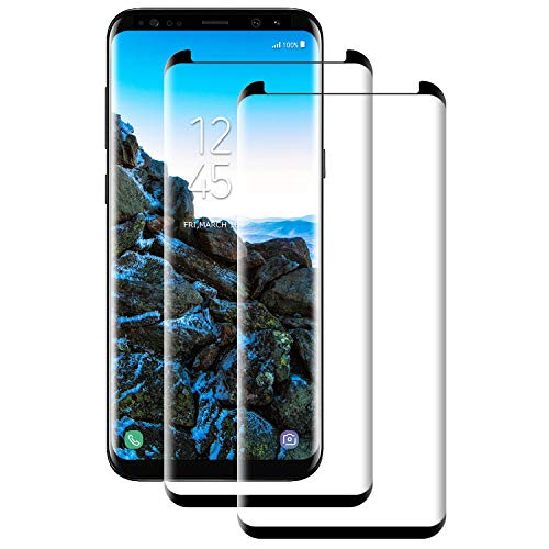 Aspiree compatibel met Samsung Galaxy S8 Screen Protector, 9H gehard glas scherm voor Samsung S8 Film, [HD Clear] [Bubble Free] [Case Friendly][Scratch Resist]-2 Pack