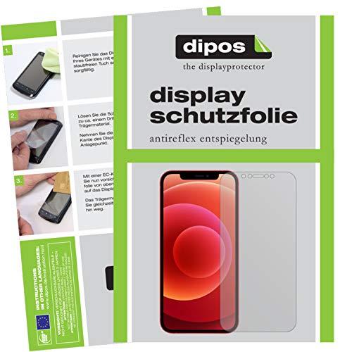 dipos I 6X Schutzfolie matt kompatibel mit Apple iPhone 12 Mini Folie Displayschutzfolie