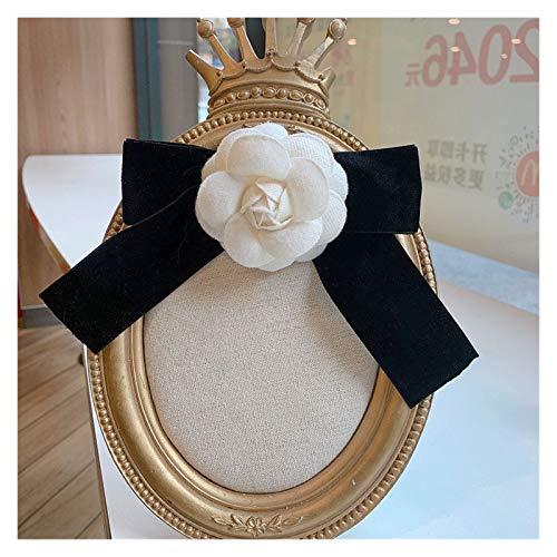 Jgzwlkj Broche Tela Coreana Bowknot Corbata Broche Camelia Flor arqueamiento Corbata Corbata Camisa Collar Collar Pins joyería de Moda para Mujeres Accesorios (Metal Color : 3)