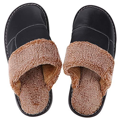 1 par de zapatillas de invierno elegantes para el hogar, para el...
