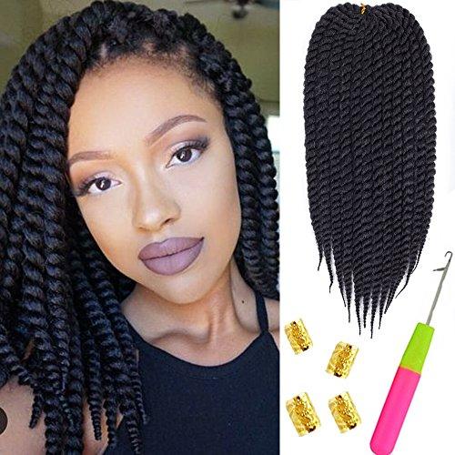 Mirra's Mirror 6Packs 12†Havana Twist Crochet Hair Mambo Twist Senegalese Crochet Braids Braiding Hair 75gram/12 roots/Pack