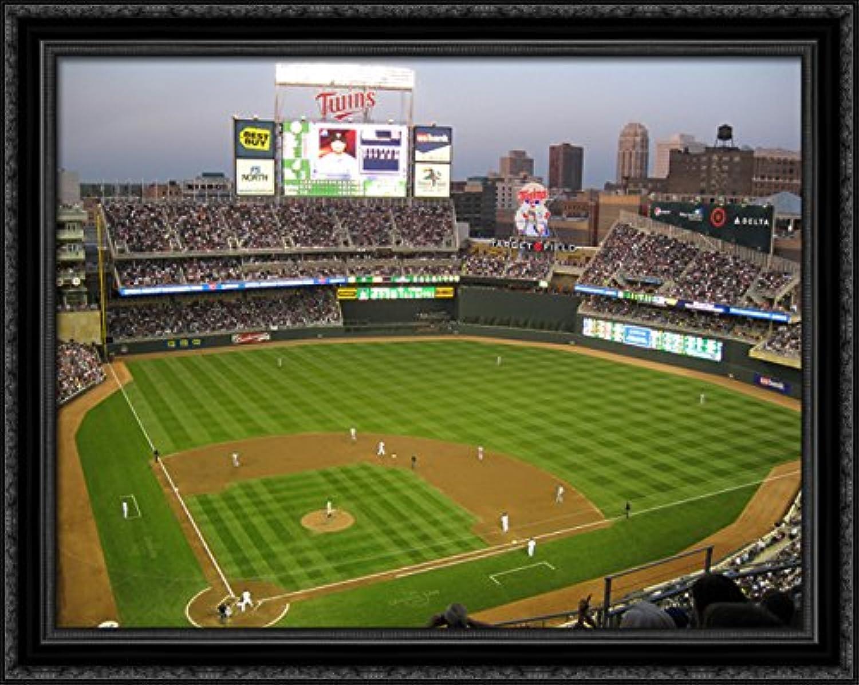 Target Field 36x28 Large Black Ornate Wood Framed Canvas ArtHome of the Minnesota Twins
