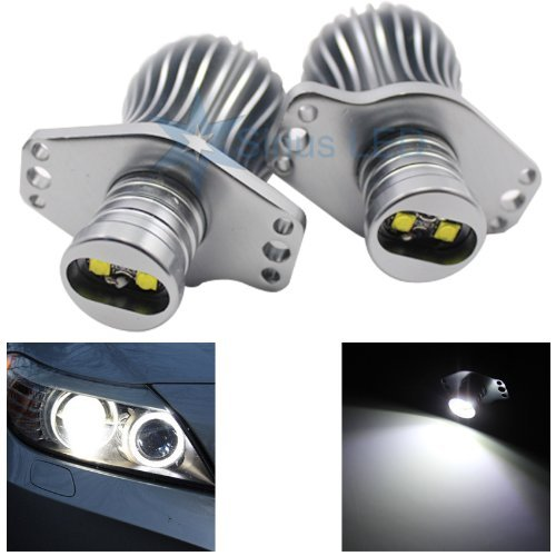 Fits E90 E91 Cree 20w High Power Error Free BMW Angel Eye Halo Light Upgrade 6000k - Compatible and Fits For BMW