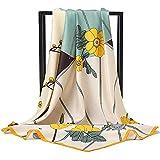Vellette Bufanda Cuadrada de Seda Pañuelo de Seda para Mujer,Pañuelos Bandanas,Cabeza Cuello Bufanda 100 * 100cm