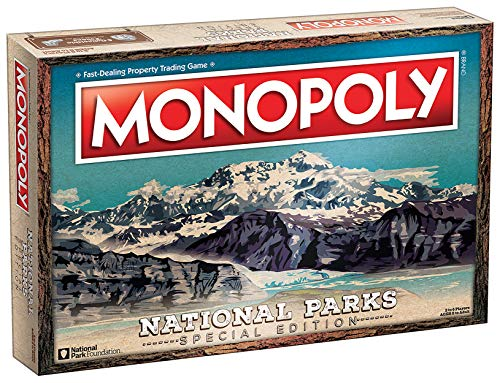 Monopoly National Parks 2020 Edition   Featuring Over 60 National Parks from Across The United States   Iconic Locations Such as Yellowstone, Yosemite, Grand Canyon, and More   Licensed Monopoly Game