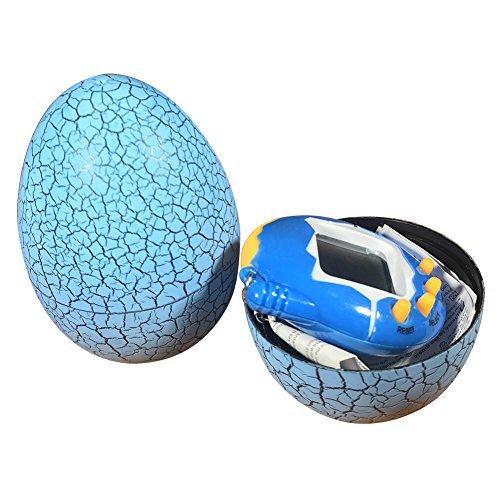 Teydhao Cracked Egg Tumbler Cyber E-Pet Digital Virtual Pet Kid Giocattolo Elettronico Regalo,Accessori da Auto Moto Telefono Borse per Donne Bambini Regalo del Premio della Festa (Blu+ Blu)