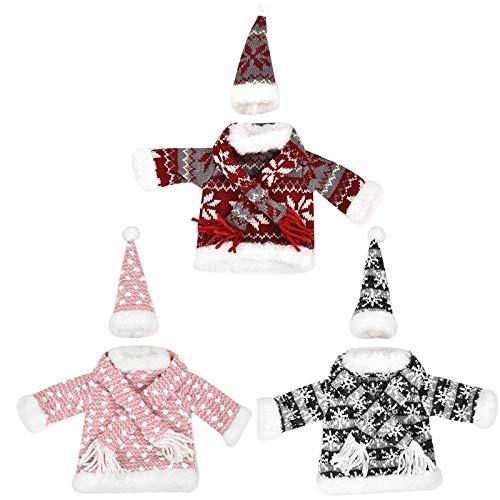 Moligh doll 3 StüCk Weihnachts Kleidung Wein Flaschen Bezug Champagner Flaschen Taschen Weihnachten Haus Party Dekor Tisch Kleidung Ankleiden Gegendtand Set
