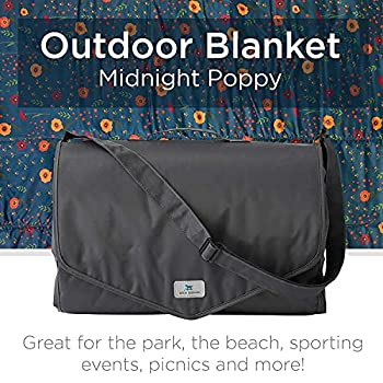 Little Unicorn | Outdoor Blanket 5 x 5 - Couverture pique-nique 152 x 152 cm (Midnight Poppy)