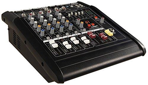 HOLLYWOOD the Starsound - 1500W 5-Kanal Powermixer Mischpult mit Verstärker | PM-25 | perfekt für DJs, Feiern und Bühnenauftritte