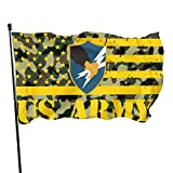 Army Camouflage Green Veteran Thin Gold Line US Army Security Agency Home Garden Flag Yard Decorative Flag 3x5 Ft