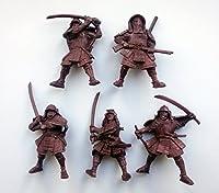 Samurai 54 mm 1/32 - 5 Fantasy Figures Tehnolog Fantasy Battles Russian Toy Soldiers