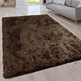 alfombra shaggy pelo largo color marron