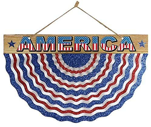 TLC America 4th of July Fourth Patriotic Party Americana American Celebration Welcome Bunting Wall Hanging Sign Decorations Decor