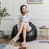 LEIXIN Sitzsack Liegestühle Ledersitzsack Möbel mit Fußbank perfekt for...