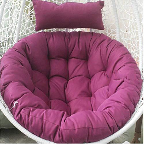DAKEUR Schaukelsitzpolsterung, Thick Nest Hanging Chair Rücksitzpolsterung, Soft Chair Kissen, Waschbarer Stuhlsitz rutschfest-lila 105x105cm (41x41inch)