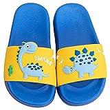 Boys/Girls Kids Slide On Sandals Dinosaurs Jelly Anti-Slip Bath Shower Slippers Navy Blue