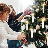 LED Weihnachtskerzen Kabellos Kerzen Weihnachtsbaumkerzen Christbaumkerzen mit Fernbedienung Timer Kerzenlichter - 4