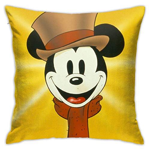 Lucky Home - Fundas de cojín para ratón, fundas de almohada decorativas, de algodón, para salón, sofá, cama, fundas de almohada blandas de 45 x 45 cm