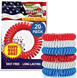 Product Image of the Patriotic SUPERBAND Premiums - Pack of 20 - for Kids & Adults - Individually...
