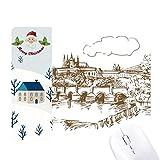 Charles Bridge Praga - Alfombrilla para ratón (diseño de Santa Claus de Praga)