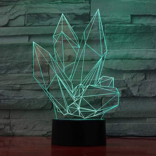 Weihnachtsgeschenk 3D Nachtlicht Bunte Dimmen Kristallform Tischlampe Led Dekoration Dekoration Weihnachtsgeschenk