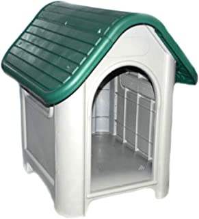LavoHome All Weather Doghouse Puppy Shelter Pet Dog House Portable Waterproof Plastic Roof Cat Dogs House|Comfortable Cool Shelter | Durable Plastic Design | Home Kennel |
