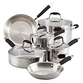 Anolon Advanced Triply Stainless Steel Cookware Pots and Pans Set, 10 Piece, Onyx (B074K8SK9N) | Amazon price tracker / tracking, Amazon price history charts, Amazon price watches, Amazon price drop alerts