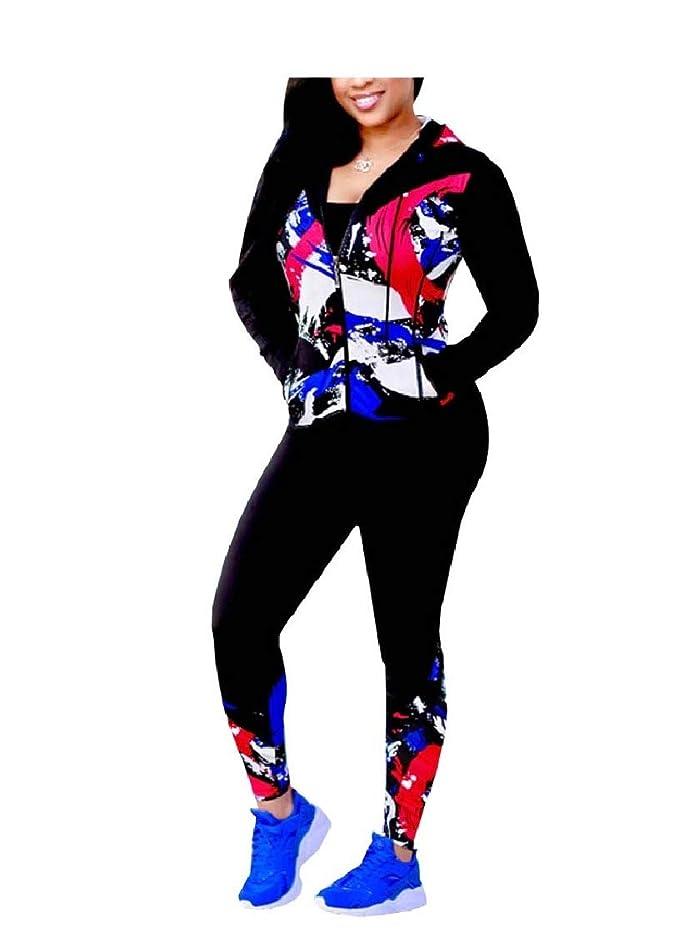 シフト血統火山のWomen's Nightclub 2 Piece Set Sport Floral Oversized Sport Coat