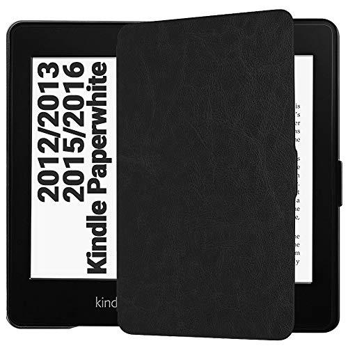 EasyAcc Hülle für Kindle Paperwhite, Ultra Dünn Schutzhülle Mit Sleep/Wake up Funktion Kompatibel mit Kindle Paperwhite für Vorgängermodelle von 2012, 2013 und 2015 - Schwarz