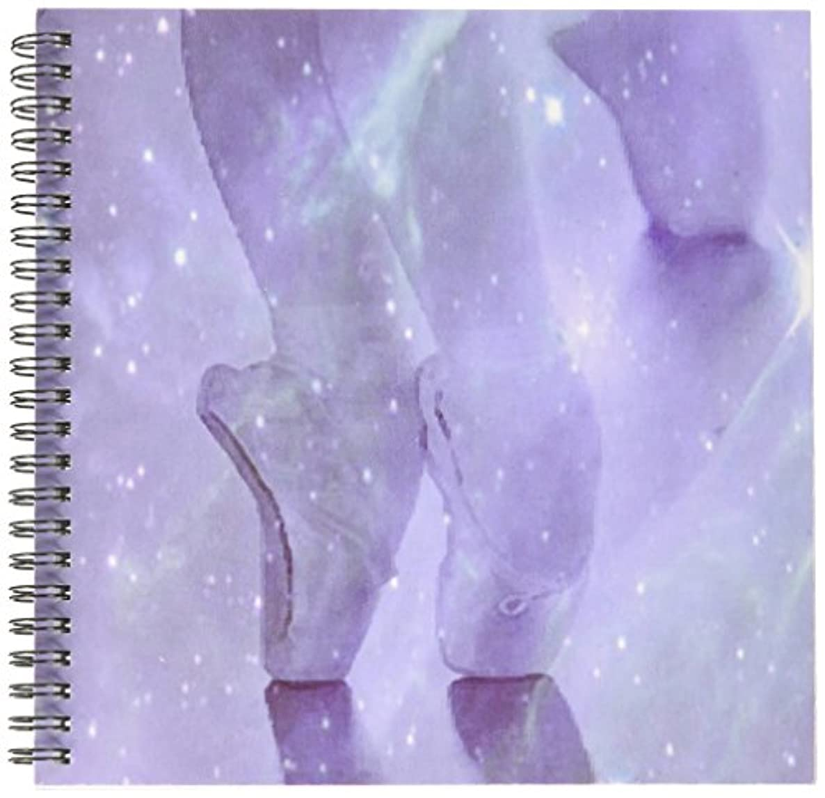 3dRose db_23914_1 Ballerina Lavender Drawing Book, 8 by 8-Inch