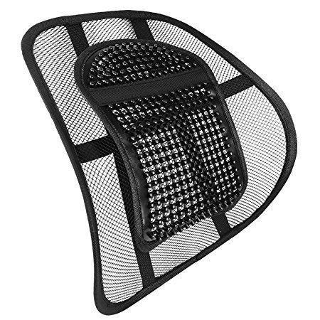 LORDOSENSTÜTZE Nova Rückenstütze Rückenkissen für Autositz oder Bürostuhl mit einstellbarer Krümmung und Rückenlehnenbefestigung