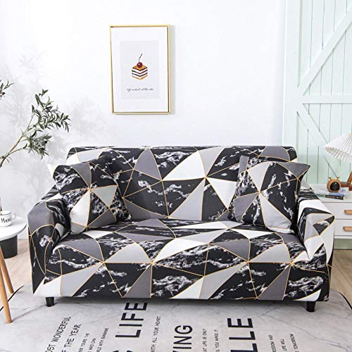 Fsogasilttlv Sofa/Chair Slipcovers 2 Seater,Waterproof Elastic Elastic Modern Sofa Cover for Living Room, Couch Cover L-Shape Furniture Protector H 145-185cm(1pcs)