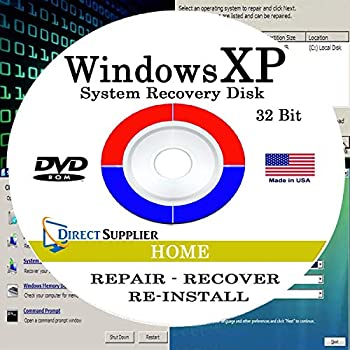 Direct Supplier - Compatible with WIN XP - 32 Bit DVD Supports HOME edition Recover Repair Restore or Re-install to Factory Fresh!