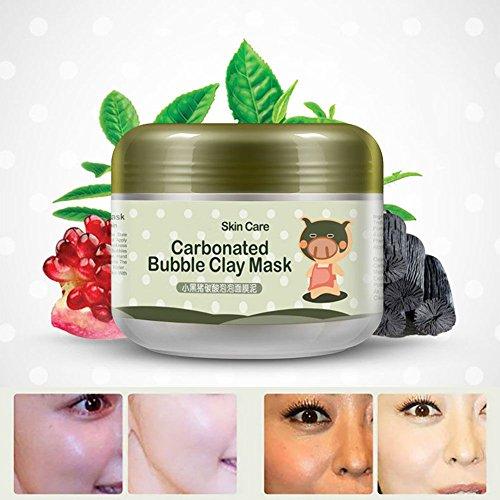 BOBORA Verkauf 100g tiefe Reinigung der Poren der kohlensäurehaltigen Ton Maske Anti-Akne Feuchtigkeitscreme Blase Gesichtsmaske